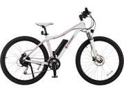 FREWAY Electric Mountain eBike with 27 Speed Pedal-Assist (White)
