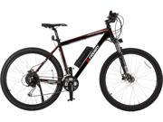 FREWAY Electric Mountain eBike with 27 Speed Pedal-Assist (Black)