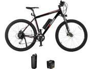 FREWAY Electric Mountain eBike with 27 Speed Pedal Assist Black