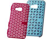 HTC  Turquoise Blue/Candy Floss Pink  DecoStand Case for HTC One M999H20089-00