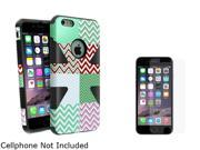 "Insten  Black  Mint Chevron Silicone PC Slim Hybrid Case Cover + Anti-Glare Matte Screen Protector for Apple iPhone 6 Plus 5.5"" 1985139"