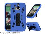 GearIT Blue Rugged High Impact Hybrid Armor Case Cover Stand for HTC One M8 GHTCM8HYBIPBL