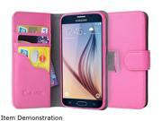 i-Blason  Leather Book  Pink  Samsung Galaxy S6 CaseGalaxy-S6-LeatherBook-Pink