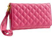 Insten Hot Pink Leather Cell Phone Wallet Case Compatible with Apple iPhone 4S / 5 / 5C / 5S / Samsung Galaxy S4 S IV mini I91901613092