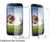 Insten Clear 2 packs of Tempered Glass Screen Protector Guard Shields Compatible with Samsung Galaxy S4 i9500 1457864