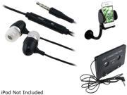 Insten Mount + Audio Adapter + Black Headset Compatible with Samsung Galaxy S3 i9300 S4 i9500 SIV