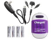 PC Treasures Purple ChargeIt! Portable Power Pack for Charging Mobile Devices 08759