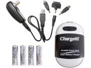 PC Treasures Black ChargeIt! Portable Power Pack for Charging Mobile Devices 08858 9B-75-951-596