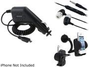 Insten 3-in-1 Car Charger Accessory Combo Compatible with Samsung Galaxy SIII S3 i9300 S4 SIV i9500