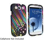 Insten Rainbow Star Snap-on Rubber Coated Case For Samsung Galaxy S3 735428