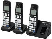 Panasonic KX-TGE233B 1.9 GHz DECT 6.0 3X Handsets Expandable Digital Cordless Answering System with 3 Handsets