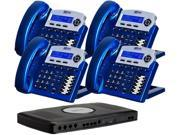 XBlue Networks XB2022-04-VB Small Office Digital Phone System Bundle with 4 Phones