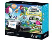 Nintendo Wii U Mario Luigi Deluxe Set Black