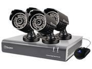 Swann  SWDVK-844004A-US  8 Channel  8-Channel DVR with 4 Security Cameras at 720TVL