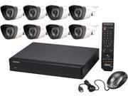 SAMSUNG SDS-P4082 8 Channel H.264 Level 8 Camera, 8 Channel 960H DVR Security System