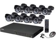 LaView LV-KD3468B Complete 16 CH HDMI Security DVR System w/ Easy DIY Eight 520TVL Infrared Surveillance Cameras (No HDD) - Retail