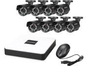 LaView LV-KD5188D-T1 Cube Series 8 CH Security DVR Cloud System w/ 1TB HDD Easy DIY Eight 600TVL Infrared Surveillance Cameras