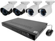 LaView LV KNT982A42W4 4 MP zoom HD 8 Channel NVR PoE IP Security System with 2pcs 4 MP 2688 x 1520 and 2pcs 2 MP 1920 x 1080 Bullet Camera No HDD Included