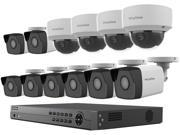 LaView 4MP 2688 x 1520P Full PoE IP Camera Security System, 16-channel H.265 NVR w/ 4K Output, 8 x 4MP Bullet and 4 x 4MP Dome Full HD In / Outdoor IP Cameras (