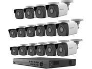 LaView 4MP 2688 x 1520P Full PoE IP Camera Security System, 16-channel H.265 NVR w/ 4K Output, 16 x 4MP Bullet Full HD In / Outdoor IP Cameras (No HDD Included,