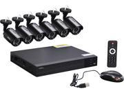 Q-See 8-Channel Full HD 1080p Security System with 6 AHD 1080p Day / Night Bullet Cameras (QTH83-6CN)