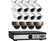 Q See 4 MP PoE IP Camera Security System 16 Channel NVR and 8 x 4 MP Full HD 2560 x 1440 pixels Day Night In Outdoor PoE IP Cameras Includes 4 Varifocal