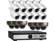 Q See 4MP PoE IP Camera Security System 16 Channel NVR and 10x 4MP Full HD 2560 x 1440 pixels Day Night In Outdoor PoE IP Cameras Includes 6 Varifocal Lens