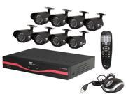 Night Owl LTE-88500 8 Channel LTE H.264 DVR, 8  Day&Night Cameras, 500GB HDD, Surveillance DVR Kit