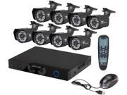 Night Owl B-SDVR16-8CM624-NHD 16 Channel DVR with HDMI, 8 X 600 TVL Cameras, Surveillance DVR Kit (No HDD)