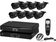 Night Owl B-BBA720-82-8 8 Channel Smart HD Video Security System w/ 2TB HDD, Battery Backup, and 8 x 720p AHD Cameras