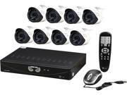 Night Owl B-F900-81-8 8 Ch. 960H DVR + 8 x 900TVL Day/Night  Outdoor Bullet/Dome Cameras, 1TB HDD Pre-Installed