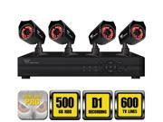 Night Owl WM-845-624-R 8 Channel (Expandable) Security System with 500 GB HDD and 4 x 600 TVL Cameras -Certified Refurbished