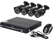 KGuard EL821-4HW285G-500G 8 Channel H.264 Level 960H DVR w/QR Code Easy Setup, Support Cloud Service-Dropbox, 4 x600TVL Day/Night Camera