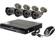 KGuard EL822-CKT005-500GB 8 Channel H.264 Level 960H DVR w/QR Code Easy Setup, Support Cloud Service-Dropbox, 4 x800TVL Day/Night Camera