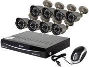 KGuard EL1622-2CKT005-1TB 16 Channel H.264 Level 960H DVR w/QR Code Easy Setup, Support Cloud Service-Dropbox, 8 x800TVL Day/Night Camera