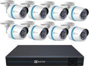 EZVIZ 16 Channel 1080p IP Security System with 3TB HDD and 8 Weatherproof 1080p PoE Bullet IP Cameras