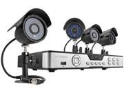 Zmodo KDB8-CARQZ4ZN 8 Channel H.264 DVR Kit (No HDD), 4 X 600TVL, 3.6mm Wide Angle Lens, 24 IR LEDs for 65ft Night Vision