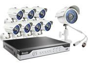 Zmodo KHI8-YARUZ8ZN 8 Channel H.264, 960H DVR Security System with 8 x 700TVL Night Vision w/IR Cut Outdoor Cameras (No HDD)