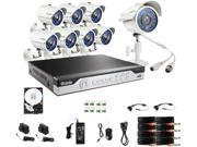 Zmodo KHI8-YARUZ8ZN-1T 8 Channel H.264, 960H DVR Security System w/ 1TB HDD and 8 x 700TVL Night Vision w/IR Cut Outdoor Cameras