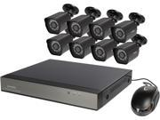 Zmodo ZM SS88B2B8 S 2TB 8 Channel 1080P HDMI Network NVR 8 Outdoor 1080P PoE IP Camera 2 TB