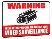 DEFENDER 23002 12 x 18 Aluminum Video Surveillance Security Warning Sign with Reflective Coating