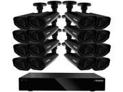 Defender 21157 16 Channel H.264 Level Widescreen Security DVR with 2TB of Storage Including 16 Surveillance 800TVL Cameras