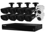 Defender 21348 16 Channel H.264 Level Connected Pro 16-Channel 960H 2TB Surveillance System with (10) 800TVL Camera