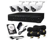 HQ-Cam HQ-TVI-4472-A - 4 Channel HD-TVI 1080P Megapixel DVR and 4x 720P Camera Kit w/ 1TB HDD