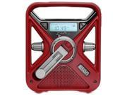 eton Hand Turbine AM/FM Weather Radio with Smartphone Charger - Red NFRX3WXR