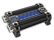 Boss CAP8 8-Farad Capacitor with Digital Voltage Meter- Black Chrome