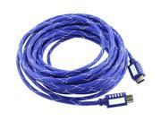 Insten 675736 25 ft. Mesh Blue Premium High Speed HDMI Cable