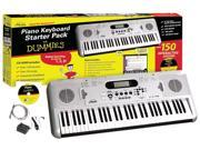 eMedia FD05107 Piano for Dummies 61 Key Keyboard Starter Pack