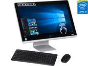 """Acer All-in-One Computer Aspire AZ3-710-UR54 Intel Core i5 4590T (2.0 GHz) 8 GB DDR3 1 TB HDD 23.8"""" Touchscreen Windows 10 Home"""