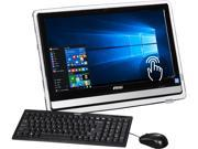 MSI All in One Computer Pro 22ET 4BW 024US Celeron N3160 1.60 GHz 4 GB DDR3L 1 TB HDD 21.5 Touchscreen Windows 10 Home